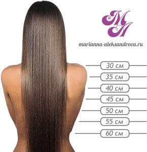 Длина волос цены